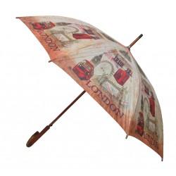 Parapluie canne manuel - Motif Londres