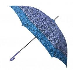 Parapluie canne manuel - Motif floral