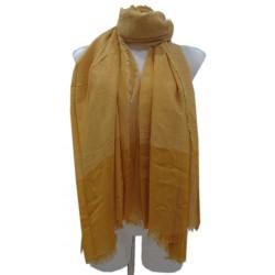 Foulard mixte à surpiqûres blanches