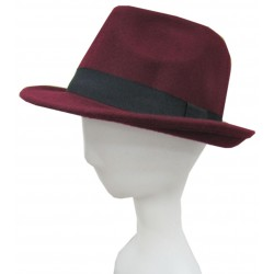 TRILBY HAT WITH BLACK BAND