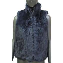 RABBIT FUR JACKET - WITHOUT SLEEVES
