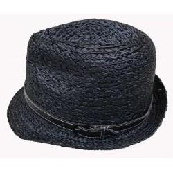 Chapeau borsalino avec ceinture marron
